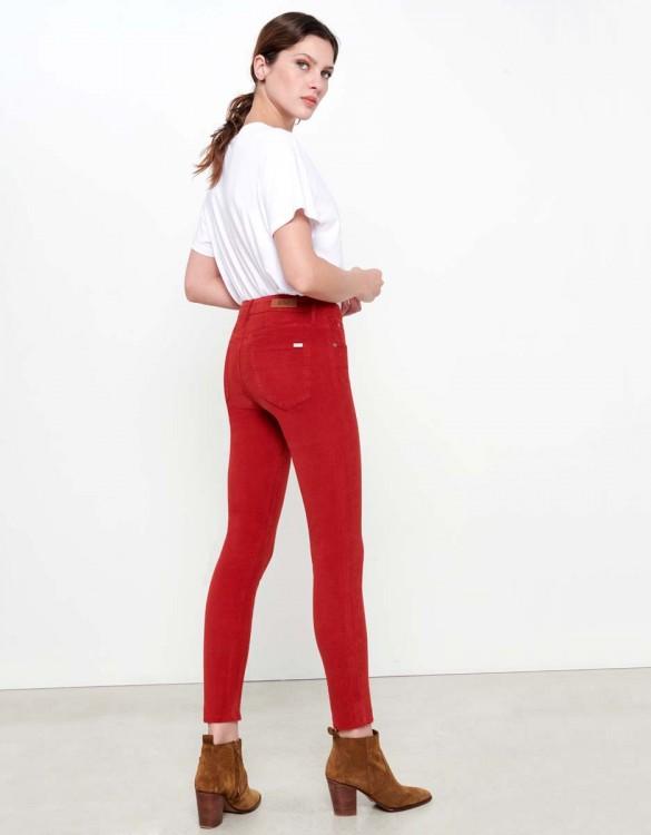 Pantalon Skinny cropped Lily Velvet - TERRE ROUGE