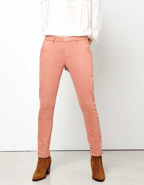 Pantalon chino Sandy - ARGILE ROSE