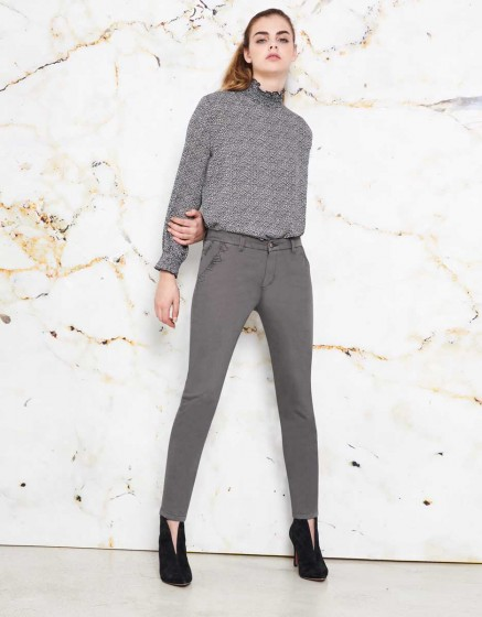 Chino Trousers Sandy Skinny - ORAGE