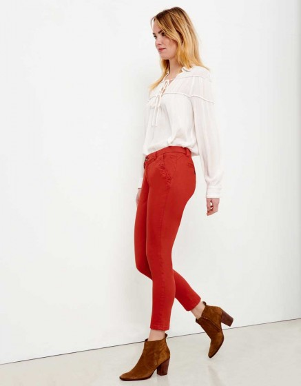 Pantalon chino Sandy Skinny - TERRE ROUGE