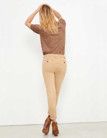 Pantalon chino Sandy Tapered - BEIGE