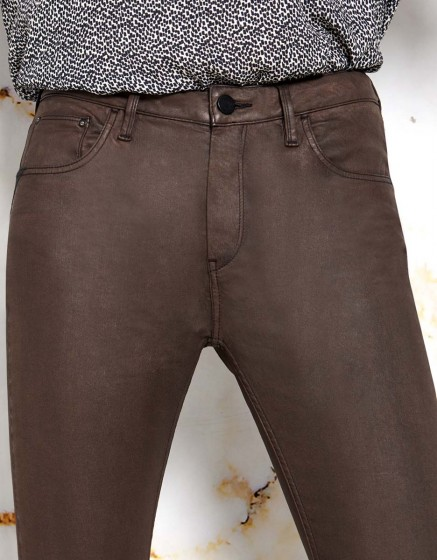 Pantalon skinny cropped Lily Enduction - ANTIC BROWN