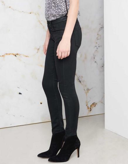 Pantalon skinny cropped Lily Enduction - BLACK
