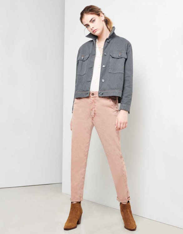 Chino Trousers Sandy Tapered - PRALINE