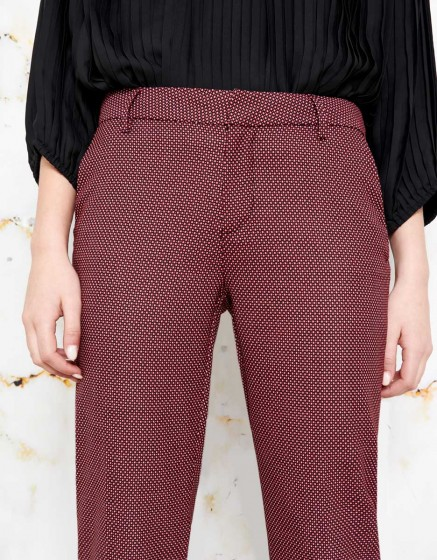 Cigarette Trousers Lizzy Fancy - BERRY