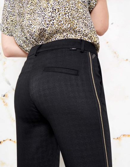 Cigarette Trousers Lizzy Fancy - HERRING BLACK