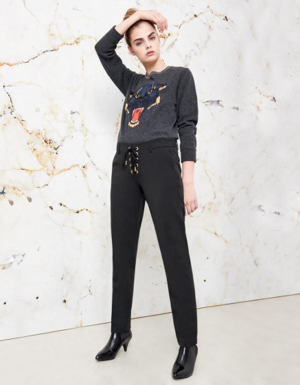 Cigarette Trousers Louison color - BLACK