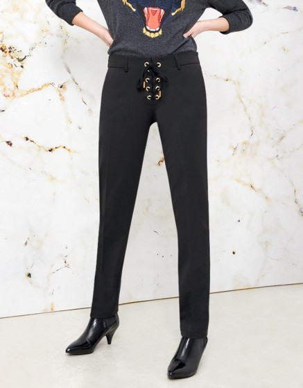 Pantalon cigarette Louison color - BLACK