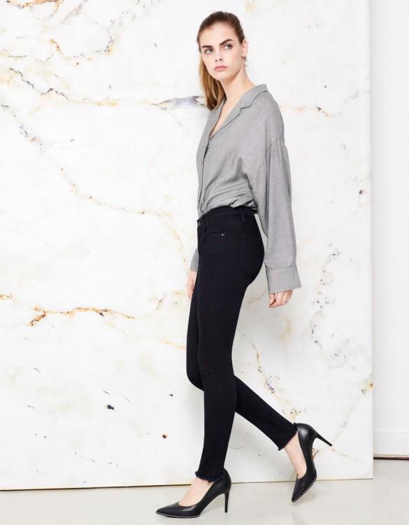 Jean skinny cropped Lily - DNM BLUE BLACK