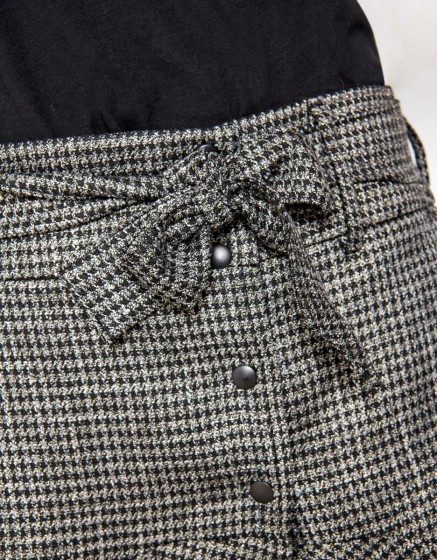 Jupe Jessi Fancy - SILVER HOUNDSTOOTH