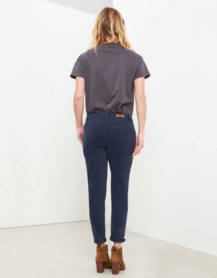 Chino Trousers Sandy Tapered - VINTAGE NAVY