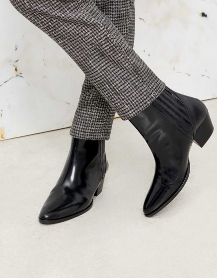 Cigarette Trousers Lizzy Fancy - SILVER HOUNDSTOOTH