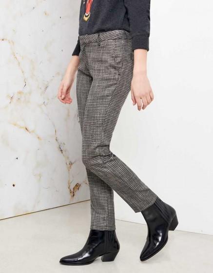 Pantalon cigarette Lizzy Fancy - SILVER HOUNDSTOOTH