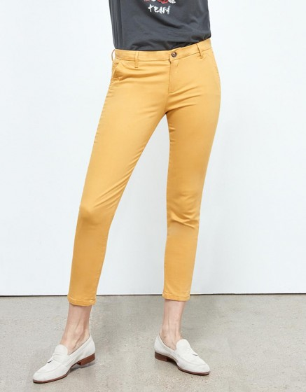 Chino Trousers Sandy Skinny - POLLEN