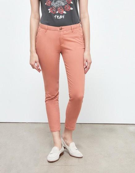 Pantalon chino Sandy Skinny - ARGILE ROSE