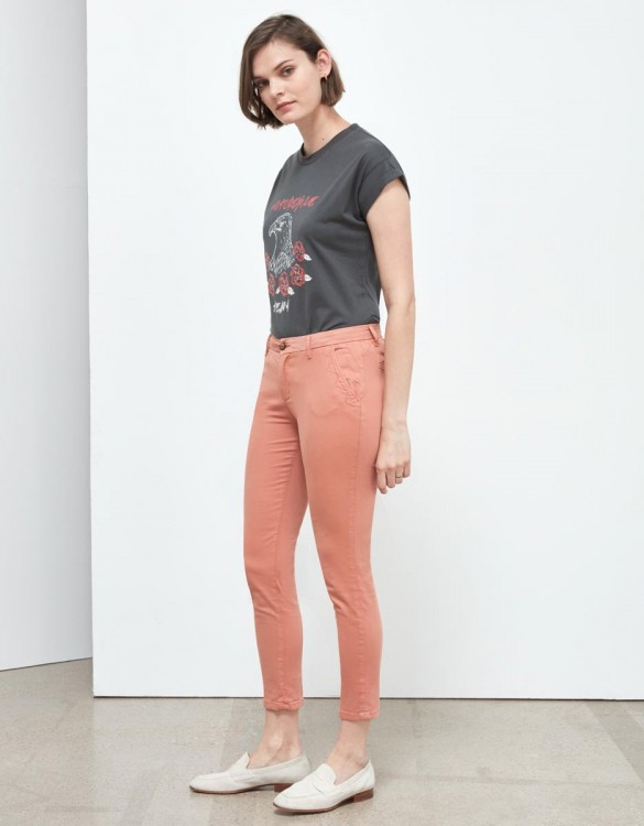 Pantalon chino Sandy Skinny - ARGILE ROSE