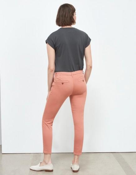 Chino Trousers Sandy Skinny - ARGILE ROSE