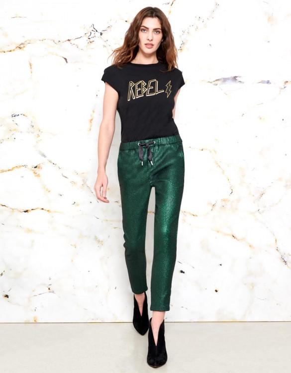 Pantalon Faustine - SHINY GREEN
