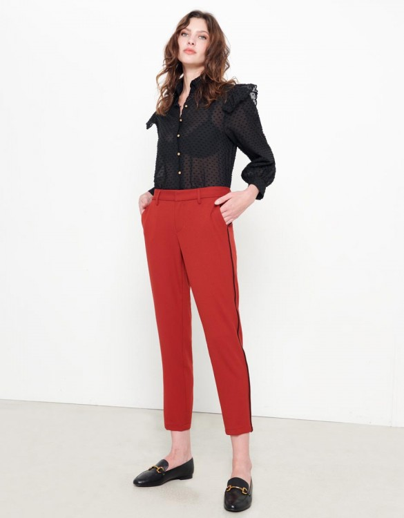 Cigarette Trousers Lizzy Color - TERRE ROUGE PIPING