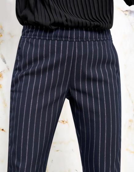 Street trousers Elvin Fancy - NAVY SILVER