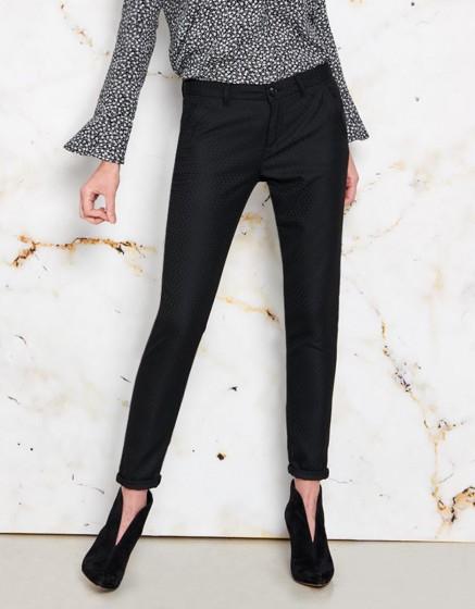 Pantalon chino Sandy Fancy - SCALY BLACK