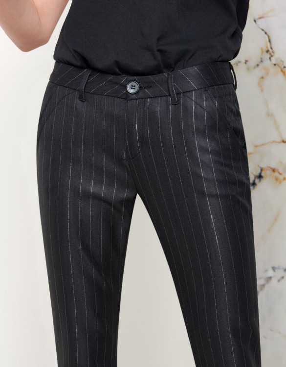 Chino Trousers Sandy Fancy - BLACK SILVER