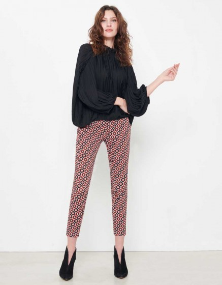 Chino Sandy Skinny Printed - RED TILES