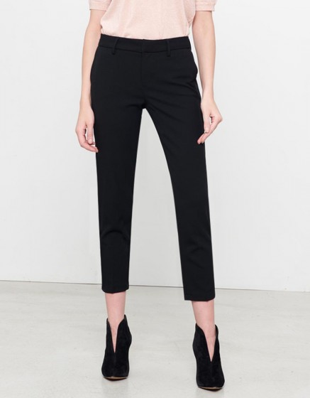 Pantalon Cigarette Lizzy Color - BLACK PIPING CARBONE