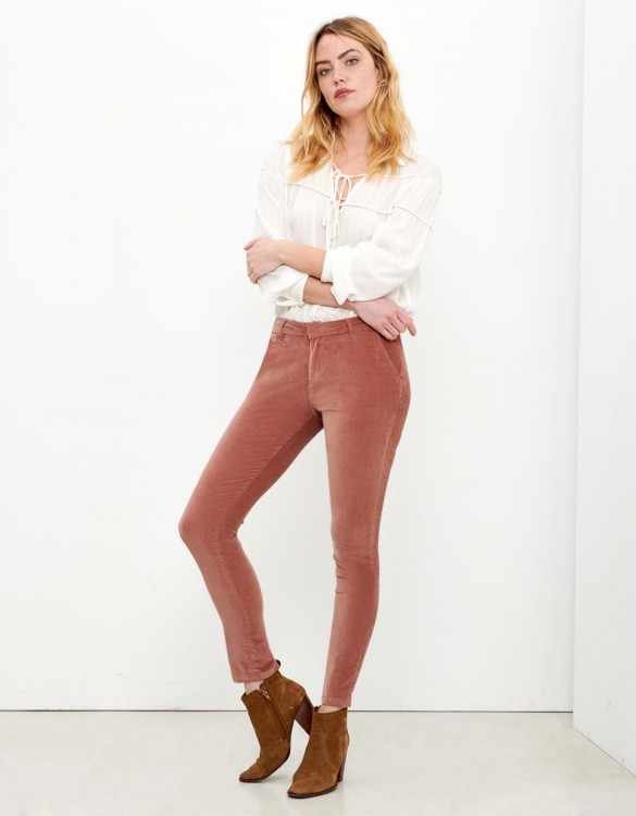 Chino Trousers Sandy Velvet - ROSE ANTIQUE