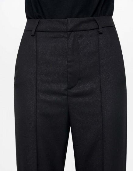 Jean Straight Cropped Lorenzo Fancy - GLITTER BLACK