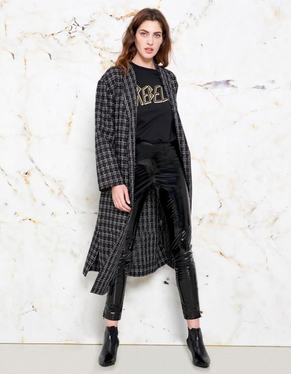 Coat Magali - BLACK PLAID