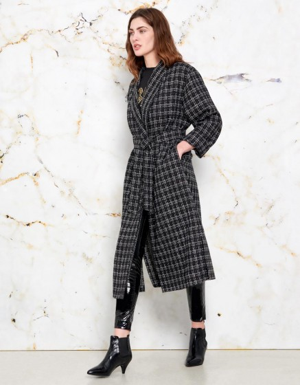 Manteau Magali - BLACK PLAID