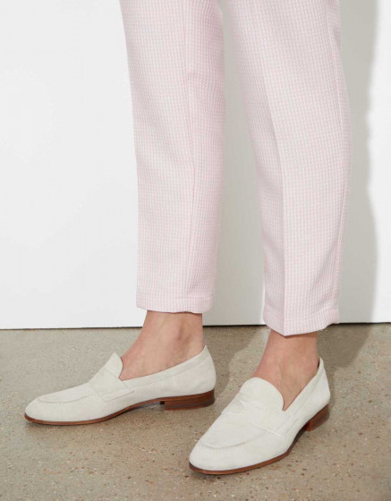 Cigarette trousers Liv Fancy - BABY PINK TILES