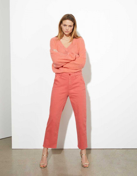 Pantalon chino highwaist cropped Sandy - CAYENNE