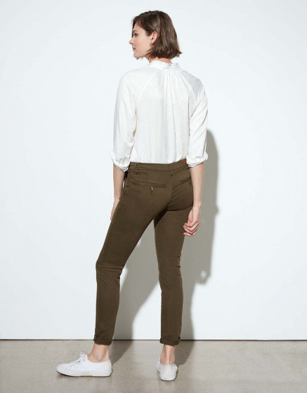 Chino trousers Sandy - DARK KAKI