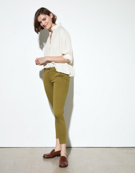 Chino trousers Sandy Cropped - LIME TREE