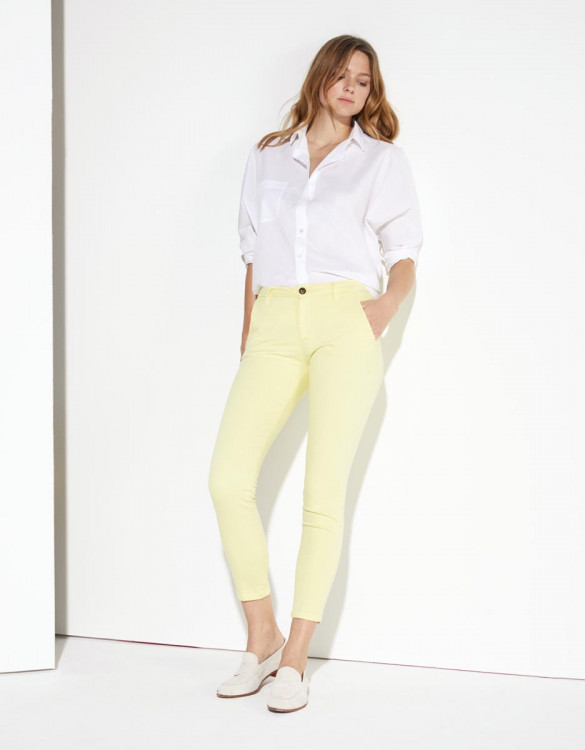 Chino trousers Sandy Cropped  - SORBET BANANE