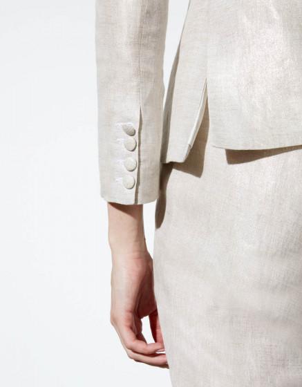 Blazer Brune Linen - TWINKLE SAND
