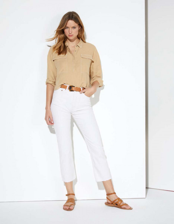 Highwaist cropped jean Milo - DNM OFF WHITE