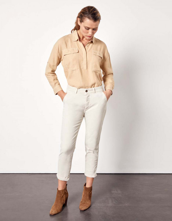 Pantalon chino Sandy Tapered - LATTE