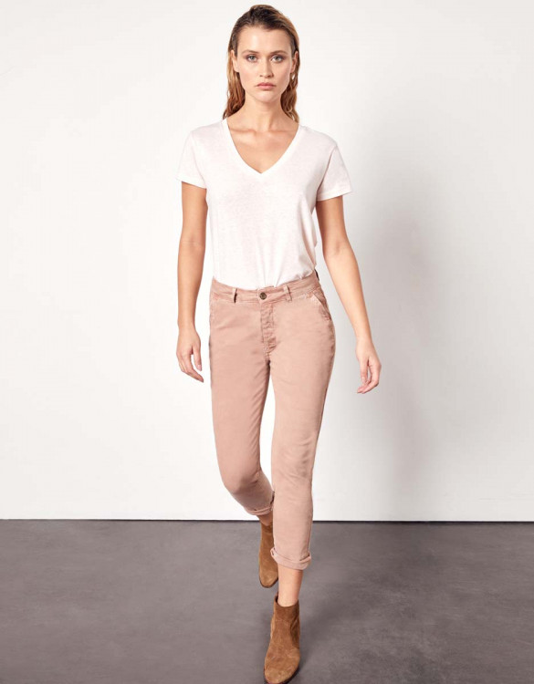 Trousers chino Sandy Tapered - PINKSAND