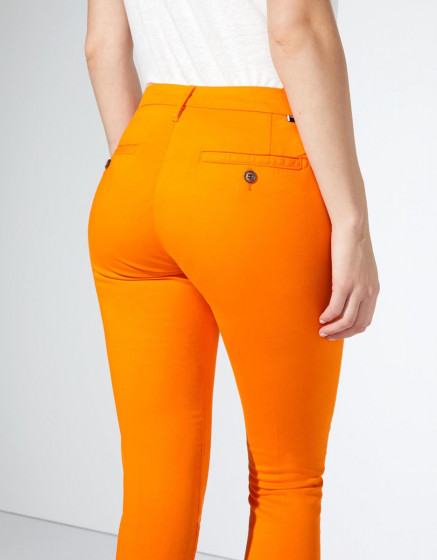 Trousers chino Sandy Cropped - BRIGHT ORANGE