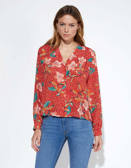 Chemise Chance - RED BLOSSOM