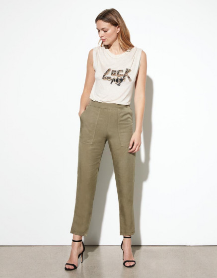 Loose cigarette trousers Pura - VINTAGE KAKI
