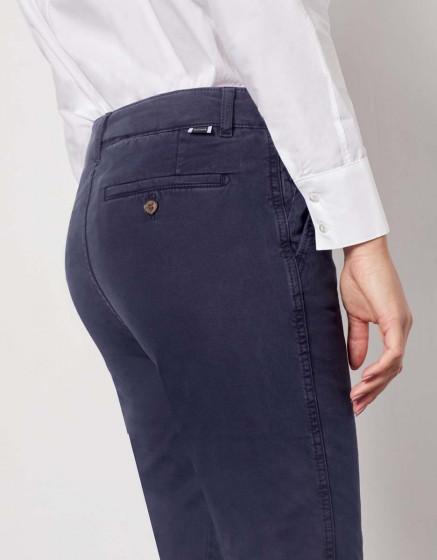 Chino Trousers Sandy Tapered - DARK NAVY