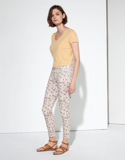 Pantalon chino Sandy Cropped Printed - CASHMERE FOLK