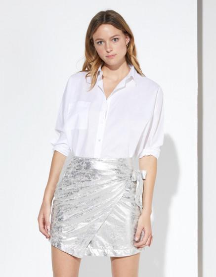 Skirt Jeanne - FOILD SILVER