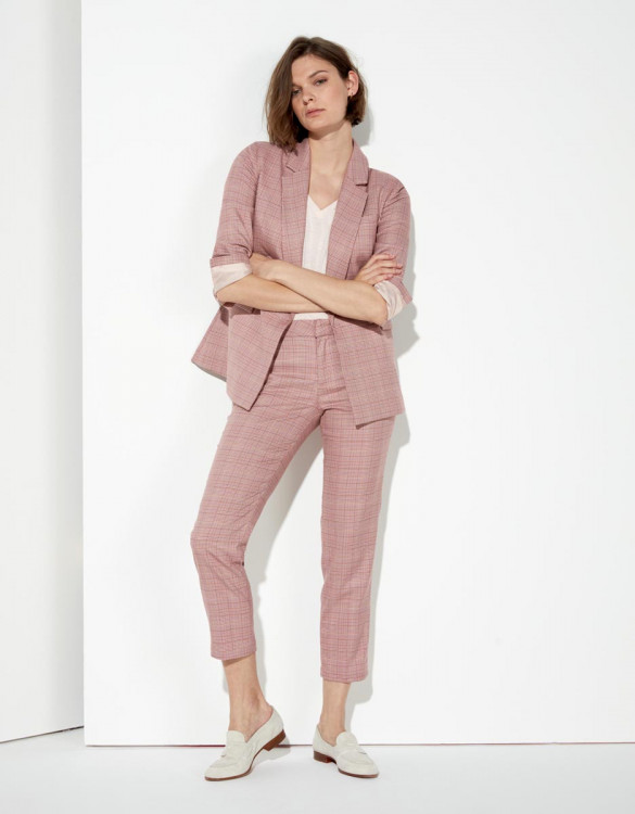 Cigarette trousers Liv Fancy - PINK CHECKS
