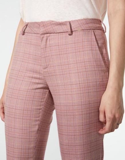 Pantalon cigarette Liv Fancy - PINK CHECKS