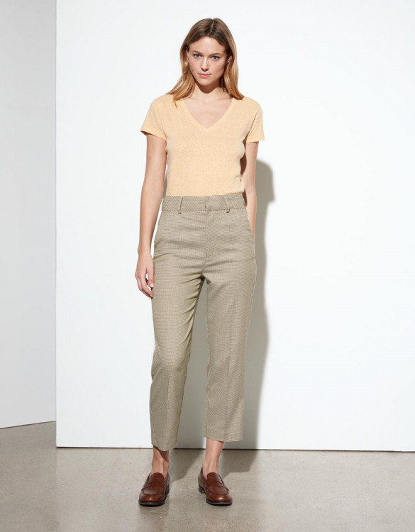 Cigarette trousers Liv Straight Cropped - HONEYCOMB